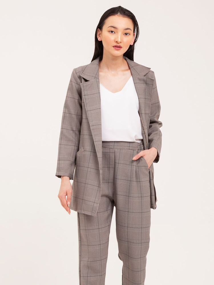 Kimi Oversized Blazer and Pants Set in Brown