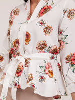 Meryl Floral Kimono Top in Orange Petals