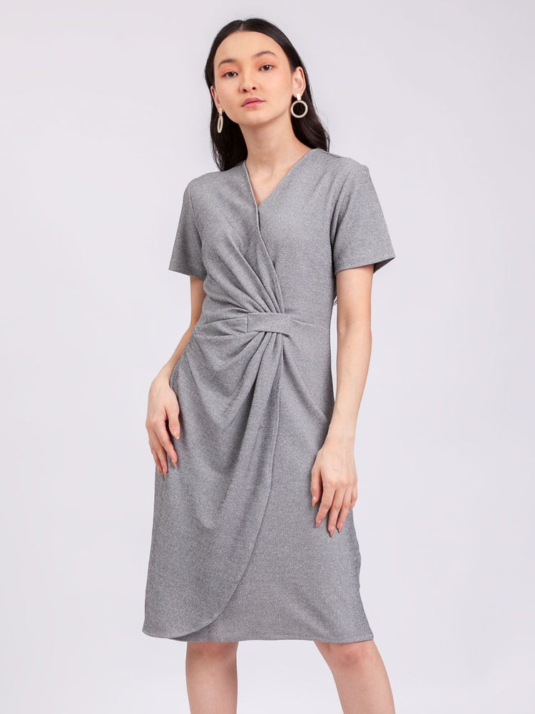 Anastasia Dress in Light Grey