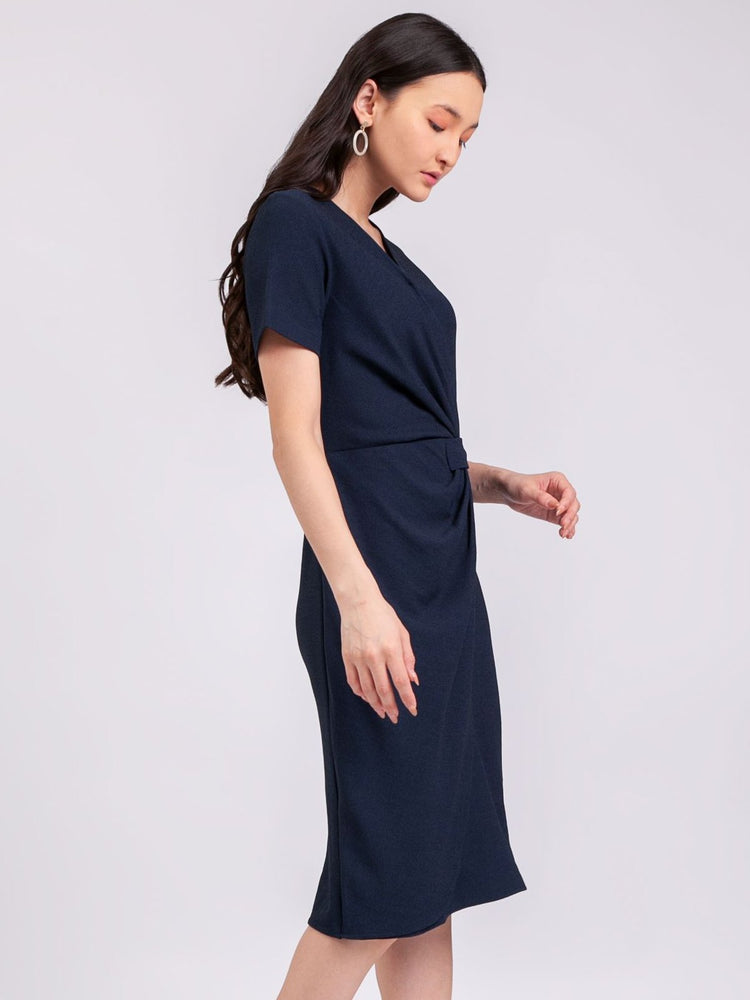 Anastasia Dress in Navy