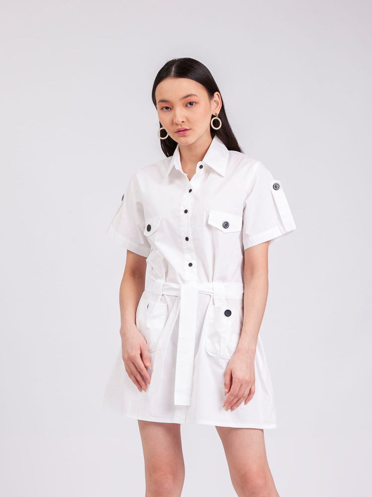 Jane Safari Dress in White