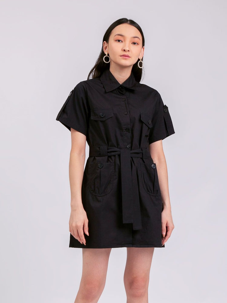 Jane Safari Dress in Black