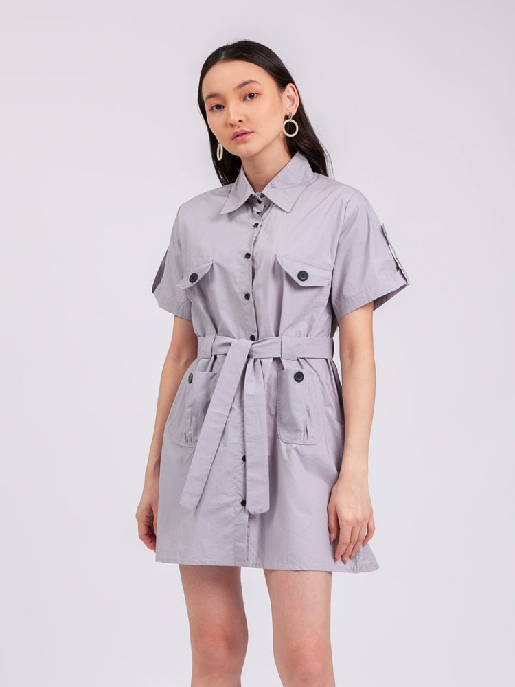 Jane Safari Dress in Grey