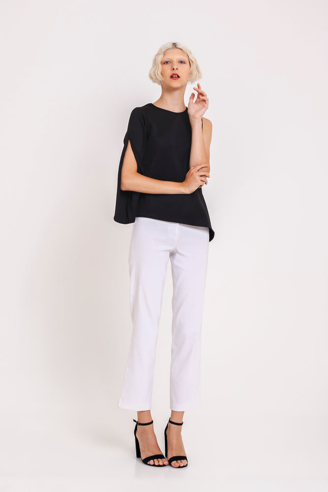 Celestine One-sleeved Top in Black