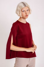 Celestine One-sleeved Top in Red