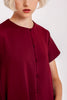 Belle Asymmetrical Top in Burgundy