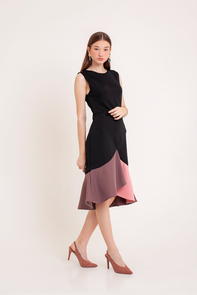 Pamela Mermaid Dress in Black