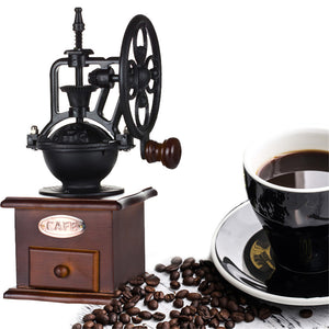 Home Coffee Grinder Appliance Manual Retro Coffee Grinder WEALTH 🥇🚀Hand-cranked Quality Wood Coffee Grinder - Entertainment Vlog