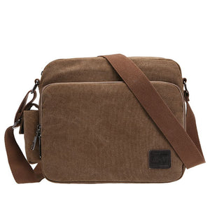 Outdoor Men's High Quality Men's Canvas Bag Travel Crossbody Bag Luxury Men's Messenger Bags - Entertainment Vlog
