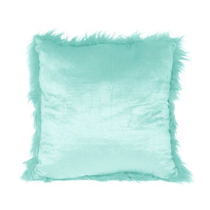 "WEALTH Your Zone Flokati Decorative Throw Pillow, 16"" x 16"", Classic Mint- Available In Multiple Colors - Entertainment Vlog"