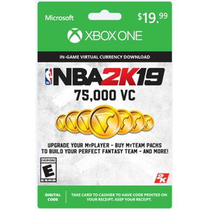 Wealth NBA 2K19 75,000 Virtual Currency Card - Entertainment Vlog
