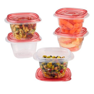 WEALTH Rubbermaid TakeAlongs 17 oz Mini Deep Squares Containers + Lids, 5 count - Entertainment Vlog