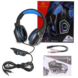 Wealthy Gaming Headset with Mic for Xbox One PS4 PC Nintendo Switch Tablet Smartphone, Headphones Stereo Over Ear Bass 3.5mm Microphone Noise Canceling 7 LED Light Soft Memory Earmuffs - Entertainment Vlog