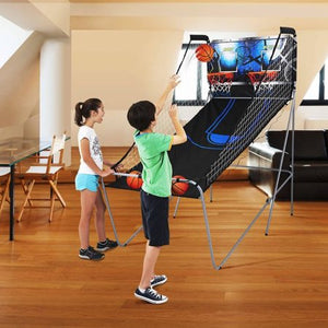 Sports 2-Player Arcade Basketball Game with 8 Game Options, All accessories are included, Black/Blue - Entertainment Vlog