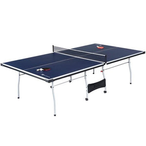 Sports Official Size Table Tennis Table, with Paddle and Balls, Blue/White - Entertainment Vlog