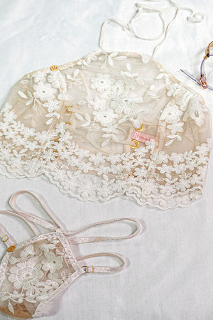 Delicate Flower Corset Top