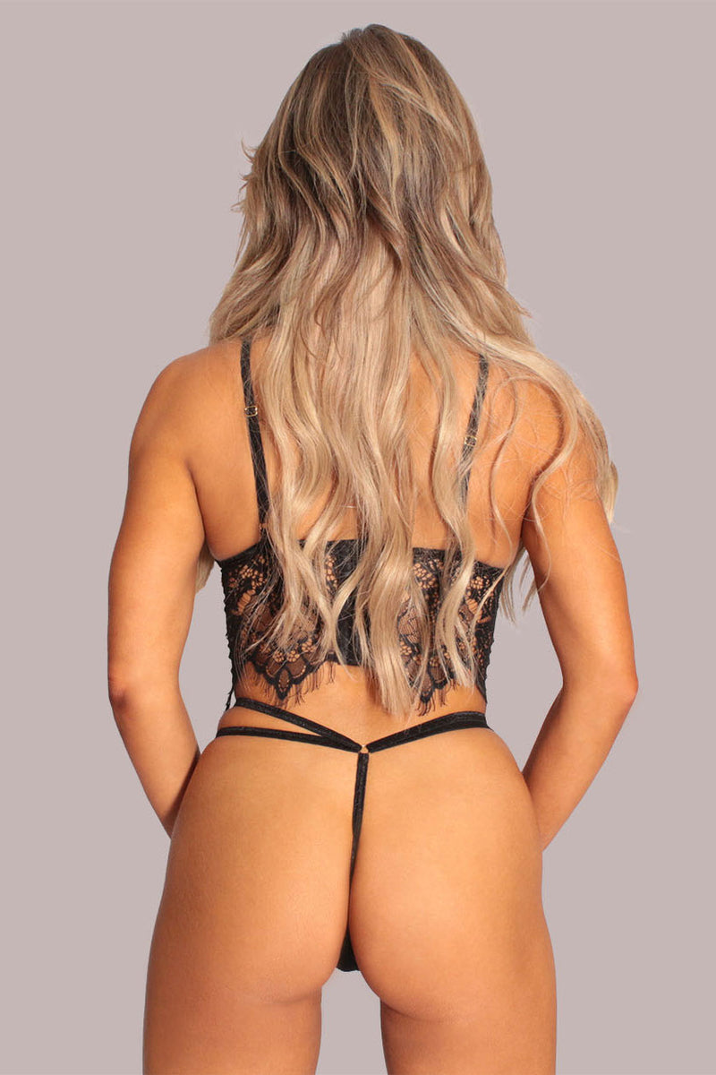 Midnight Lace Adjustable Thong