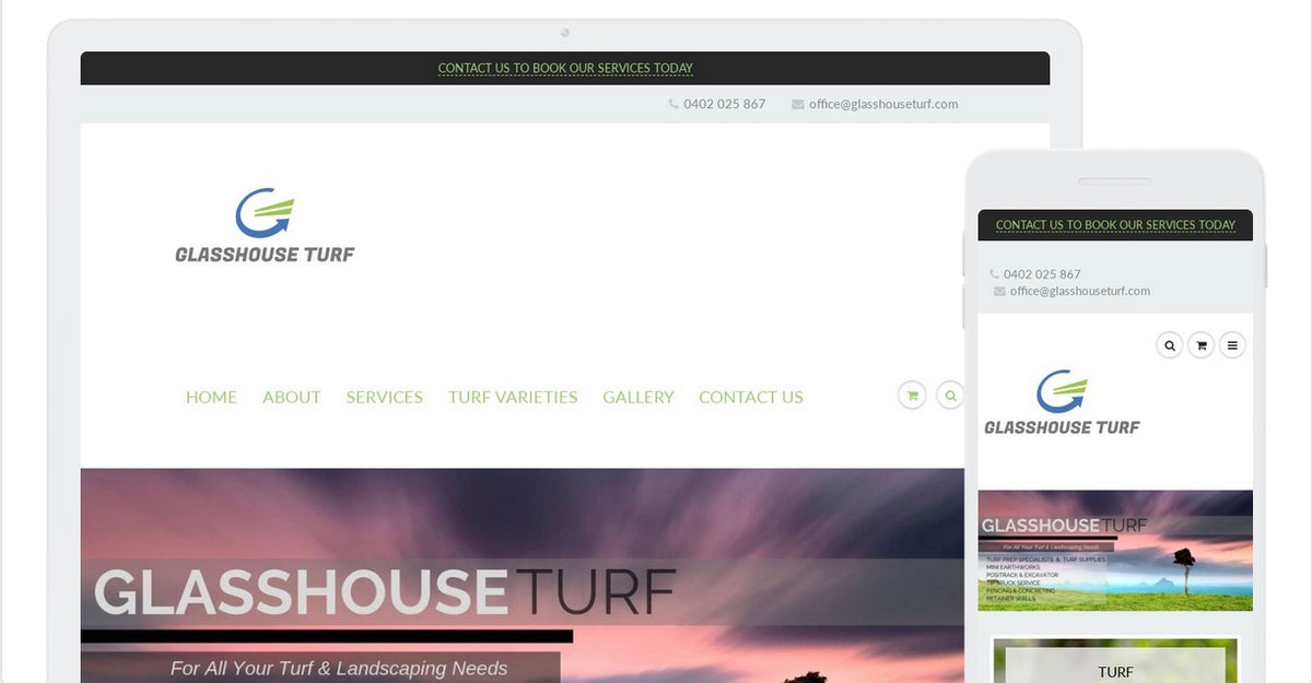 Glasshouse Turf - Service Website