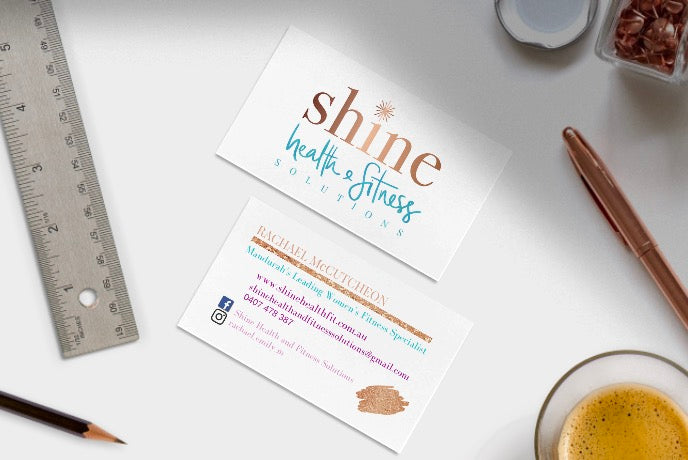 Shine Health & Fitness Solutions Business Card