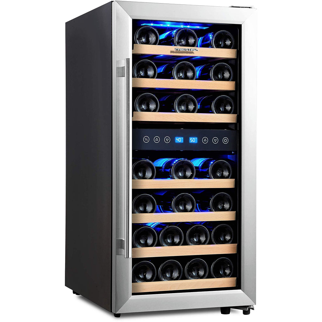 Flash Sale Phiestina 33 Bottle Dual Zone Free Standing Wine Cooler Ph Cwr100 Winecoolerworld Com