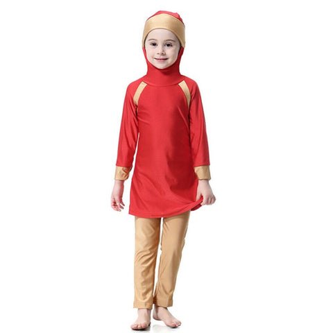 burkini-enfant-rouge-maillot-de-bain-anti-UV-face