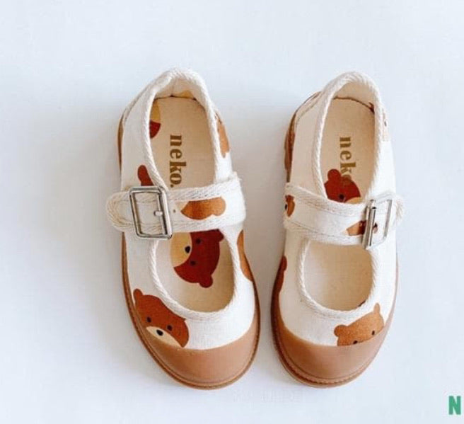 PRE ORDER Canvas Buckle Pumps