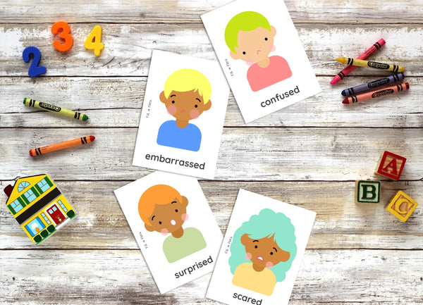 Emotions Flashcards for Children - Bright & Colourful