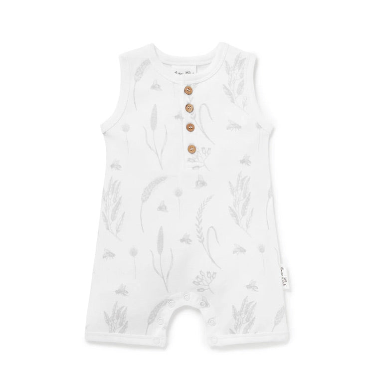 Bee Henley Shortie Romper