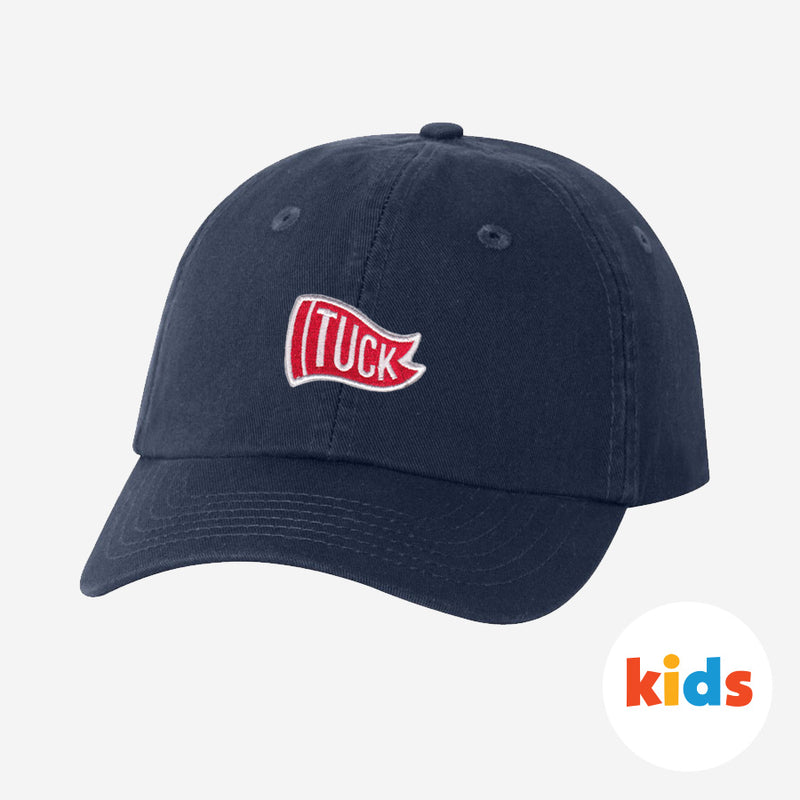 Kids Navy Tuck Hat