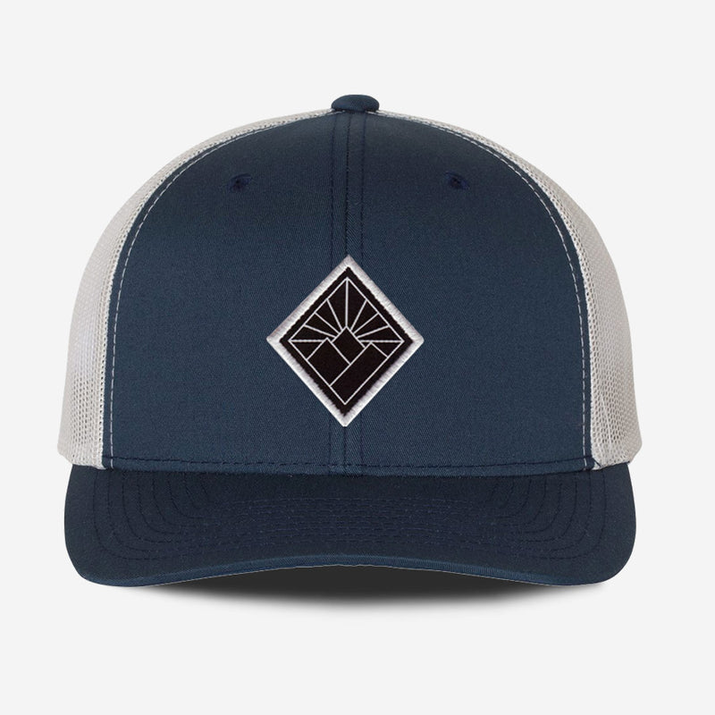 Black Diamond Hat - Navy Silver