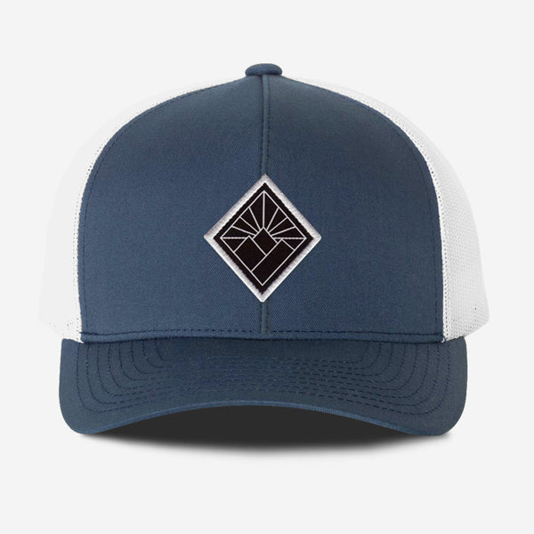 Black Diamond Hat - Navy White
