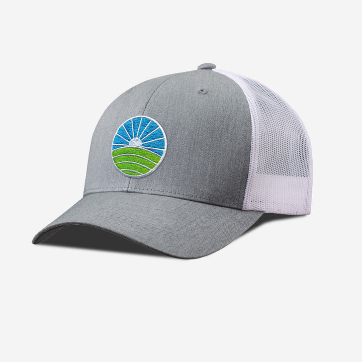 Golf Trucker Hat - White And Grey