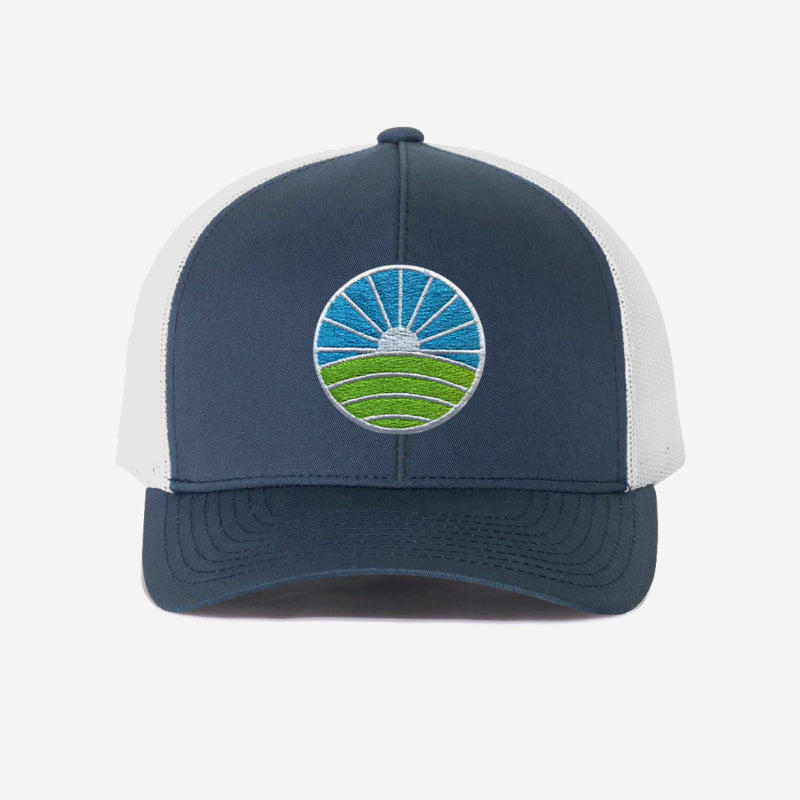 Golf Trucker Hat - Navy White
