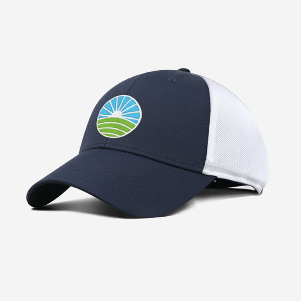 Performance Golf Hat - Navy White
