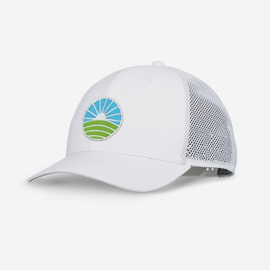 20b72a20 Performance Golf Hat - White | Tuck Life