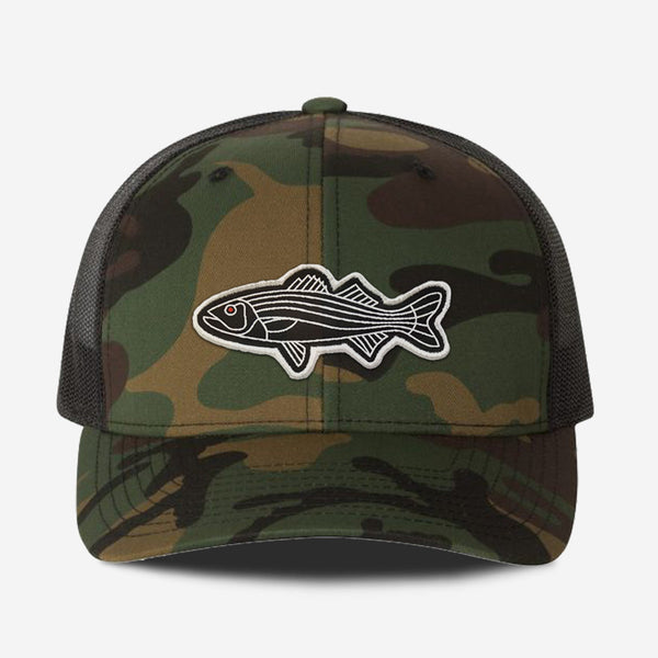 Bass Fish Trucker Hat - Camo