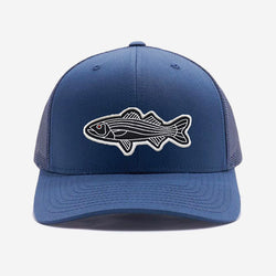 Bass Fish Trucker Hat - Navy