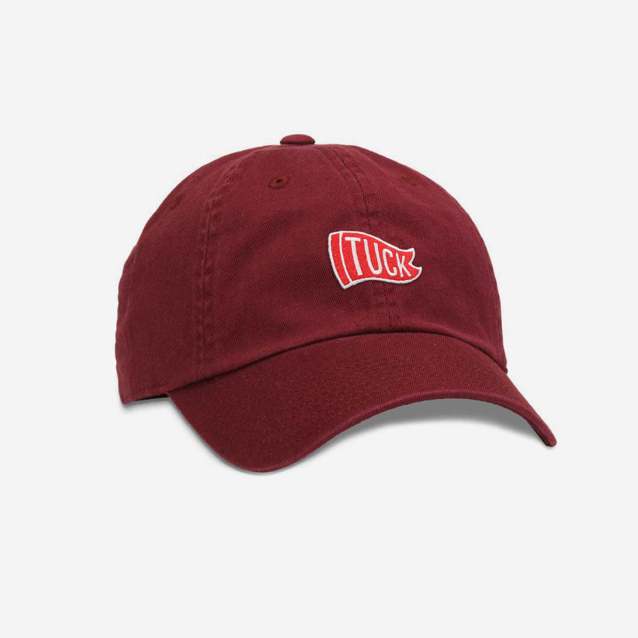 Tuck Flag Unstructured Unisex Hat - Burgundy