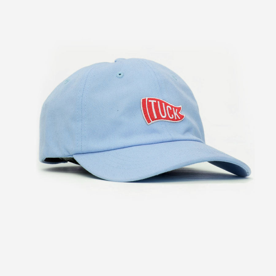 Tuck Flag Unstructured Unisex Hat - Baby Blue