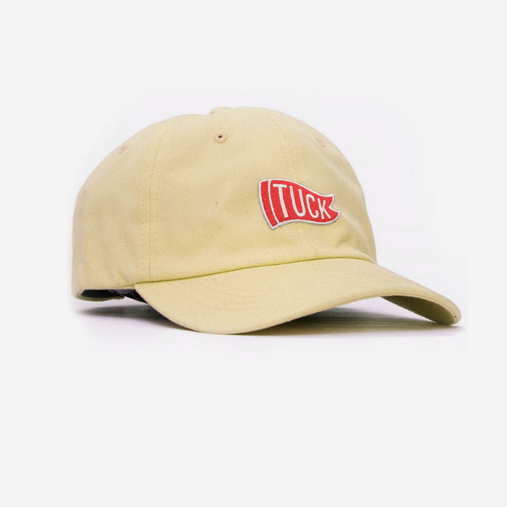 Tuck Flag Unstructured Unisex Hat - Yellow