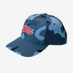 Kids Blue Camo Tuck Hat