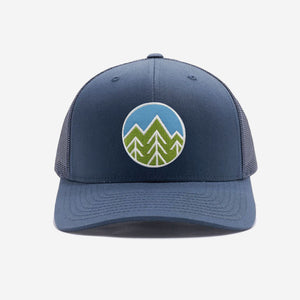 Sky Trees Trucker Hat - Navy
