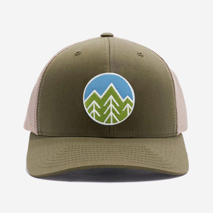 Sky Trees Trucker Hat Moss/Khaki