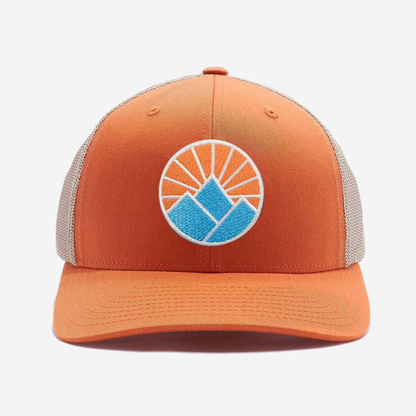 Sun Mountain Trucker Hat - Khaki Orange