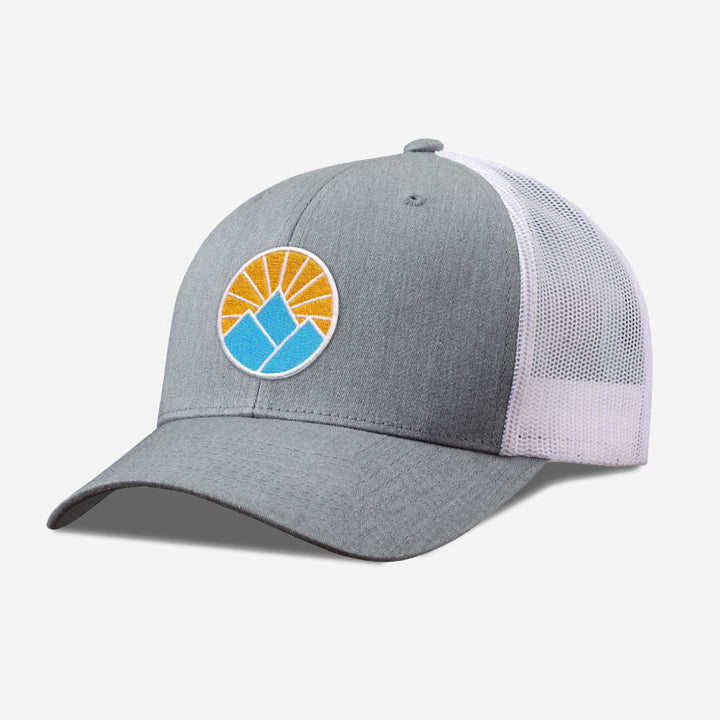 Sun Mountain Trucker Hat - White And Grey