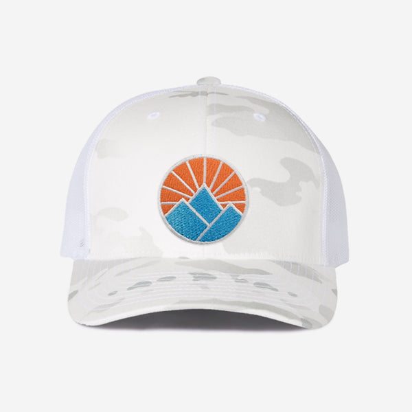 Sun Mountain Trucker Hat - White Camo
