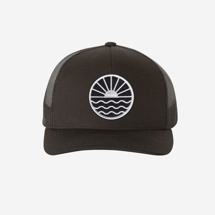 Sun Wave Trucker Hat - Black
