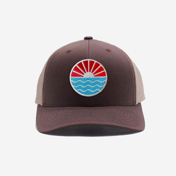 Sun Wave Trucker Hat - Khaki Brown