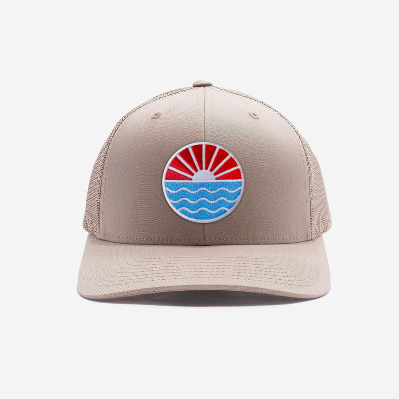 Sun Wave Trucker Hat - Khaki