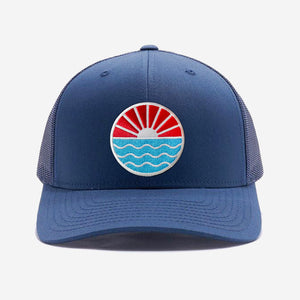 Sun Wave Trucker Hat Navy
